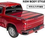 A.R.E. Fusion Painted Hard Fold Truck Bed Tonneau Cover | AR32008L-JSC | fits 2019-2020 Dodge RAM 5' 7inch