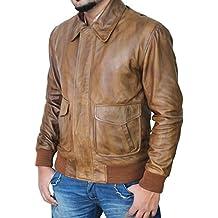 Vintage Distressed Genuine Lambskin Mens Leather Biker Jackets and Coats