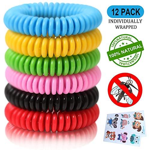 12 Pack Mosquito Repellent Bracelets