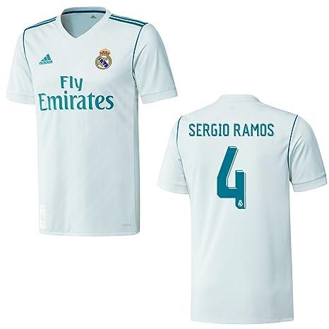 Real Ramos 4152Amazon Madrid Adidas Home Maglia Bambini 2018 f7gIYyv6b