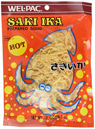 Wel Pac Cuttlefish, Saki Ika Hot, 2-Ounce (Pack of 6)