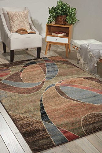 - Nourison Expressions (XP07) Multicolor Rectangle Area Rug, 3-Feet 6-Inches by 5-Feet 6-Inches (3'6