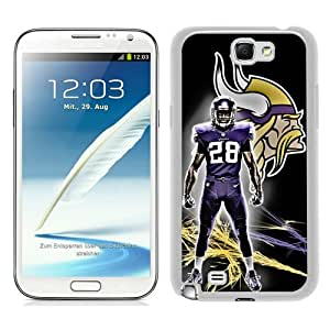 Adrian Peterson White New Style Custom Samsung Galaxy Note 2 N7100 Cover Case