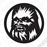 Star Wars Chewbaca car truck vinyl decal sticker cool jedi luke han solo yoda