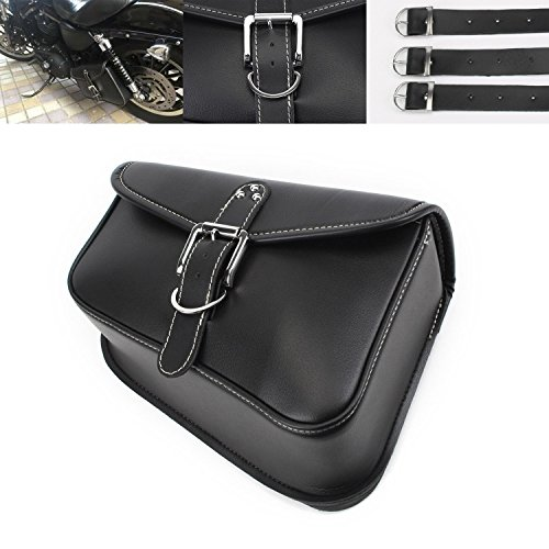NEVERLAND PU Leather Left side Saddlebag Saddle Bag for Harley Sportster XL 883 XL 1200