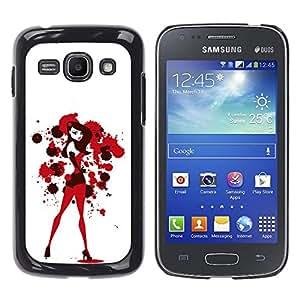 Shell-Star Arte & diseño plástico duro Fundas Cover Cubre Hard Case Cover para Samsung Galaxy Ace 3 III / GT-S7270 / GT-S7275 / GT-S7272 ( Sexy Bunny Girl White Blood Red )