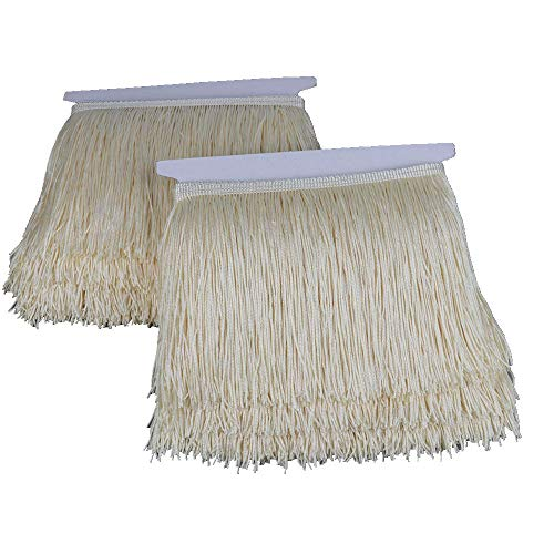 Cream Fringe - Heartwish268 Fringe Trim Lace Polyerter Fibre Tassel 6inch Wide 10 Yards Long for Clothes Accessories Latin Wedding Dress DIY Lamp Shade Decoration Black White Red(Cream Off-White)