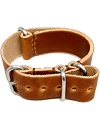 DaLuca Military Watch Strap - Natural Dublin (Matte Buckle) : 18mm