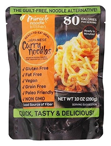 MIRACLE NOODLE, NOODLE MEAL, JAPANESE CRRY, Pack of 6, Size 10 OZ - No Artificial Ingredients Gluten Free Vegan