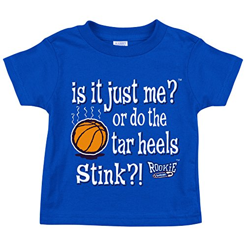 Smack Apparel Duke Basketball Fans. is It Just Me or do The Tar Heels Stink?! Royal Toddler Tee (2T-4T) (2T)