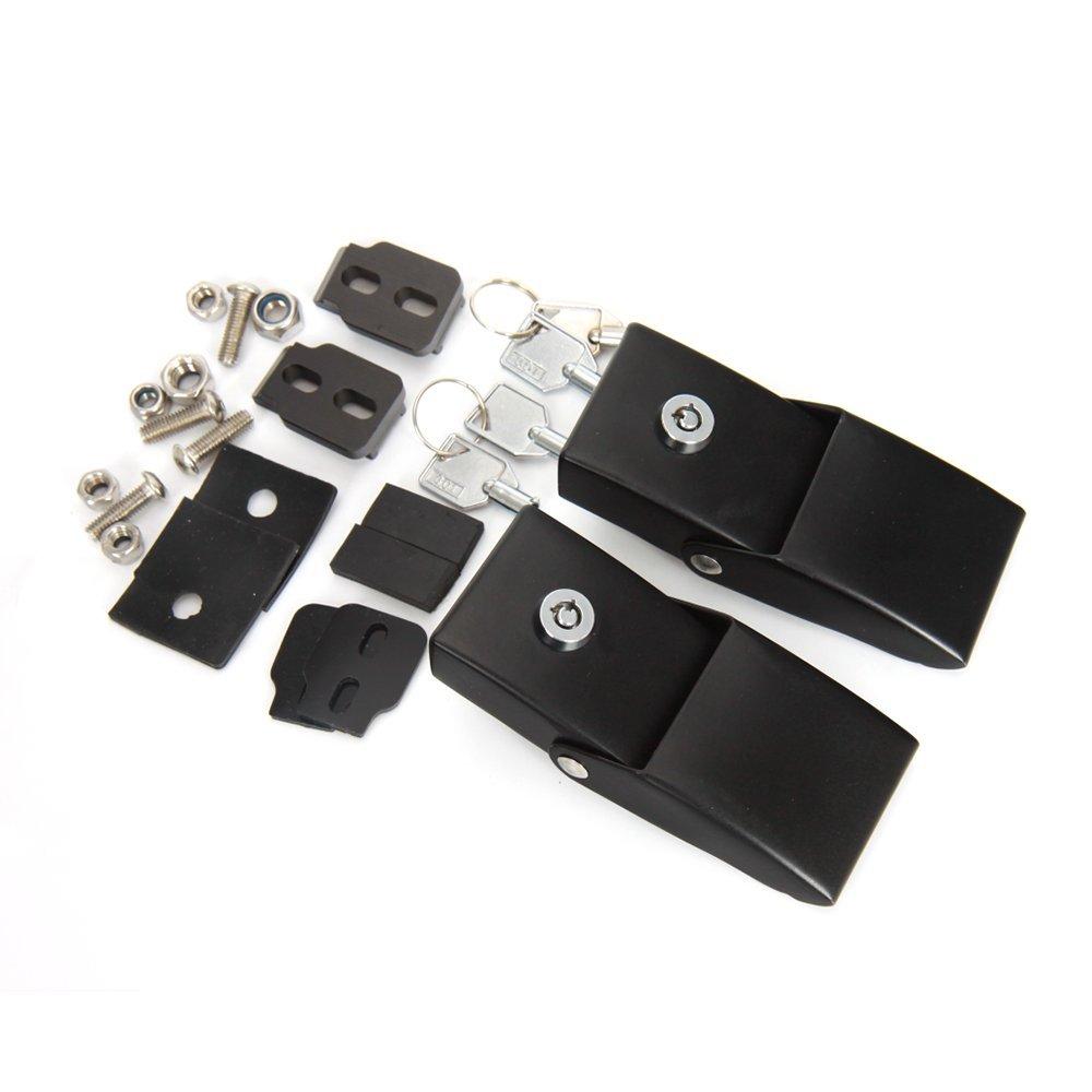 Premis Hood Security Catch Latches Locking Kit Fit Jeep Wrangler JK 07-16 Huidu Technology