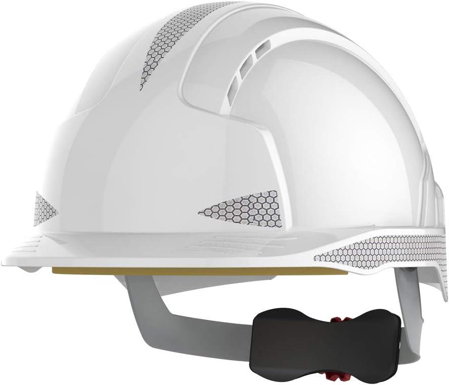 stondato traspirante JSP EVOLite Casco di sicurezza con apertura a scatto e sistema di regolazione 3D colore: bianco EN397