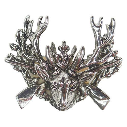 Oktoberfest German Hunting Hat Pin by E.H.G | Metal Stag & Rifles