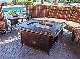 Hiland FS-1212-T-10 Decorative Propane Fire Pit, Large, Bronze Cast Aluminum For Sale