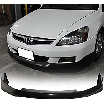 2004 HF-P Style Black PU Front Lip Finisher Under Chin Spoiler Add On by IKON MOTORSPORTS Front Bumper Lip Fits 2003-2005 Honda Accord