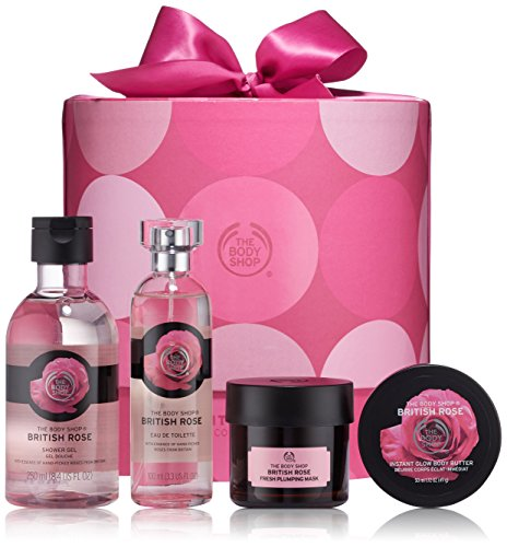 The Body Shop Ultimate Collection Gift Set, British Rose, 16.1 Ounce (Feminine Gel Eau De Toilette)