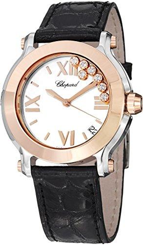 - Chopard Happy Sport Round Womens Two Tone Diamond Watch 278492-9001
