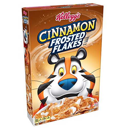 Kellogg's Breakfast Cereal, Frosted Flakes, Cinnamon, Fat-Free, 13.5 oz Box