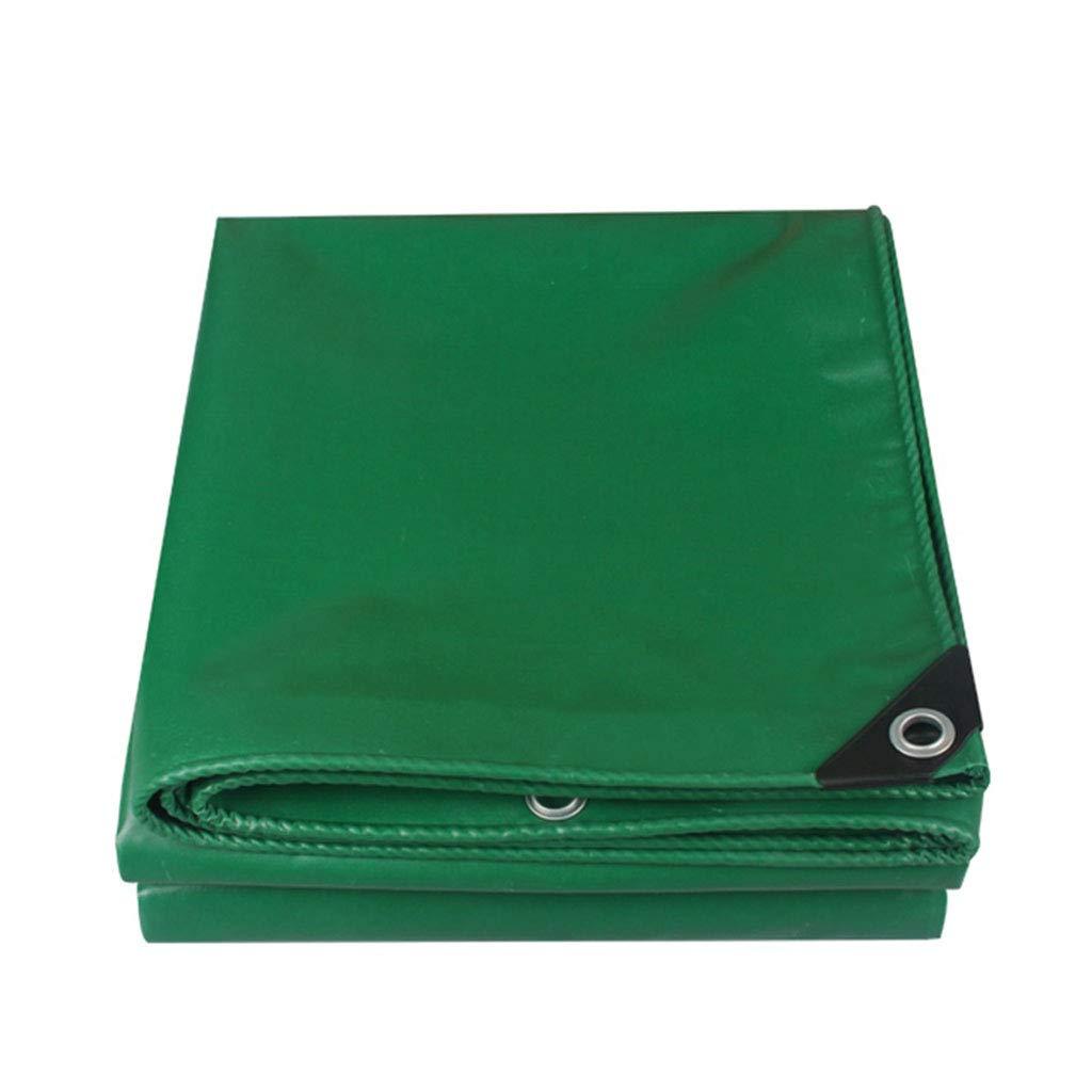 YX-Planen Dicke PVC-Plane Mehrzweck-Reversible Waterproof Grün - 100% wasserdicht und UV-geschützt - Dicke 0,35 mm, 450 g m²