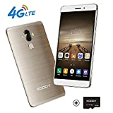 Xgody Y19 Unlocked Smartphones 32GB (16 GB R0M with 16GB SD Card ) 2GB RAM Quad Core Dual SIM Cell Phones 4G FDD-LTE Android 7.0 6 Inch HD 720x1280 Support Fingerprint GPS Wi-Fi Bluetooth Oro ( Gold )