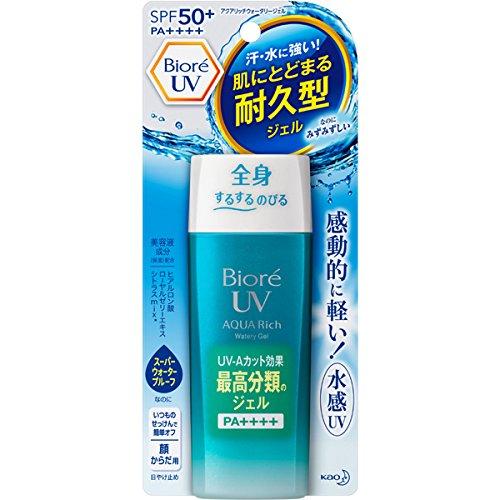Biore Uv Aqua Rich Smooth Watery Gel Spf50 + / Pa ++++ 90ml and Facial Sheet Mask (2sheet) by Bioré
