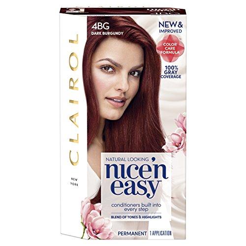 Clairol Nice 'N Easy Permanent Hair Color, 4Bg Dark Burgundy (Packaging May Vary)