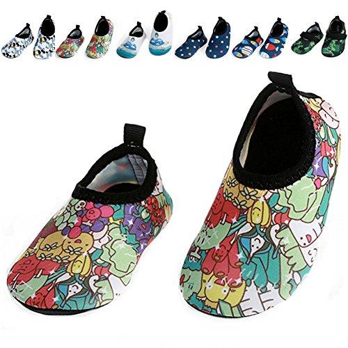 Barerun Durable Sole Barefoot Water Skin Shoes For Babies Travel Swim Pool Beach
