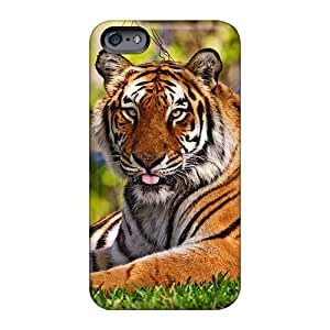 JenniferDeMaere Apple Iphone 6 Plus Bumper Hard Phone Cases Unique Design Attractive Tiger Pictures [MwU1781BWzO]