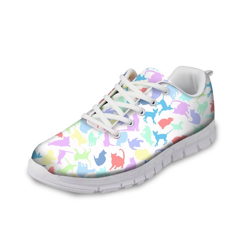 Mumeson Men Women Cats /& Dogs Printed Sports Shoes Comfortable Running Shoes Non Slipping Flats Breathable Tennis Athletic Sneakers