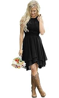 Faxpox Women S Knee Length Country Bridesmaid Dress Western Wedding Guest Dress At Amazon Women S Clothing Store,Wedding Dress Sample Sale Uk 2020