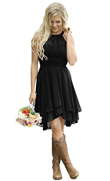 sold worldwide sneakers amazing price AlfaBridal Women's Country Bridesmaid Dresses Short Chiffon Wedding Guest  Dress