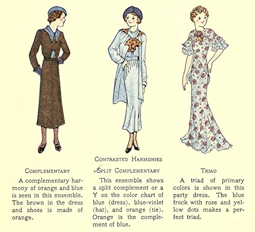 amp; Mode Unknown x in Print Home 36 Poster 24 Contrasted Dress Harmonies by The 1935 PtwqSdw