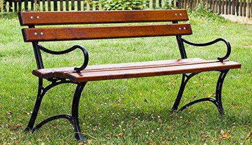 New da Giardino in Legno Royal Bench con braccioli in ontano Solido Struttura ghisa e Tavole da 31/kg