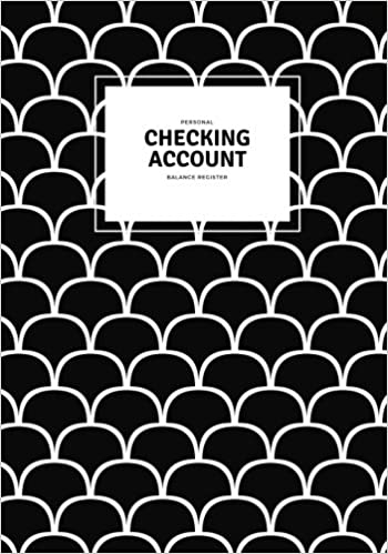 personal checking account balance register black white account