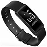 HDWY Smart Bracelet With Color Screen Step Counter Calorie Sleep Monitor Distance Sport Watch Walking Running App For Woman And Man (Color : Black)