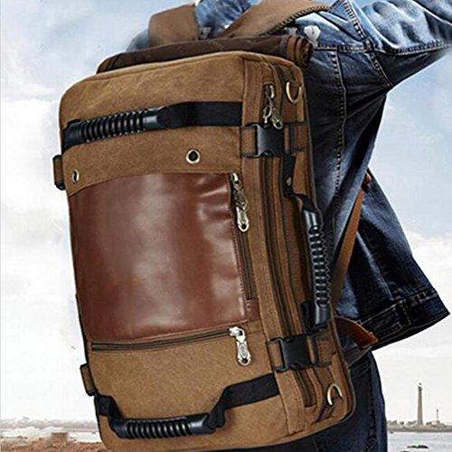 tela tempo libero Maschio / femmina zaino impermeabile indossare Grande capacità zaino 36-55L Può mettere A4 Libri 14 pollici Laptop ipad Moda ogni giorno