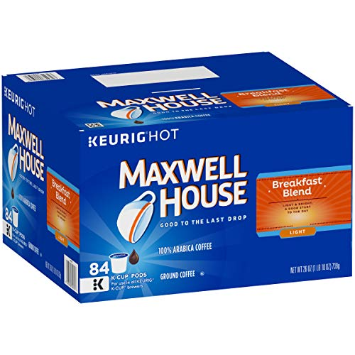Maxwell House Breakfast Blend Keurig K Cup Coffee Pods, 84 Count ()