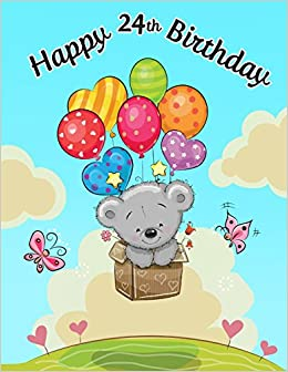 happy 24th birthday notebook journal diary 105 lined pages