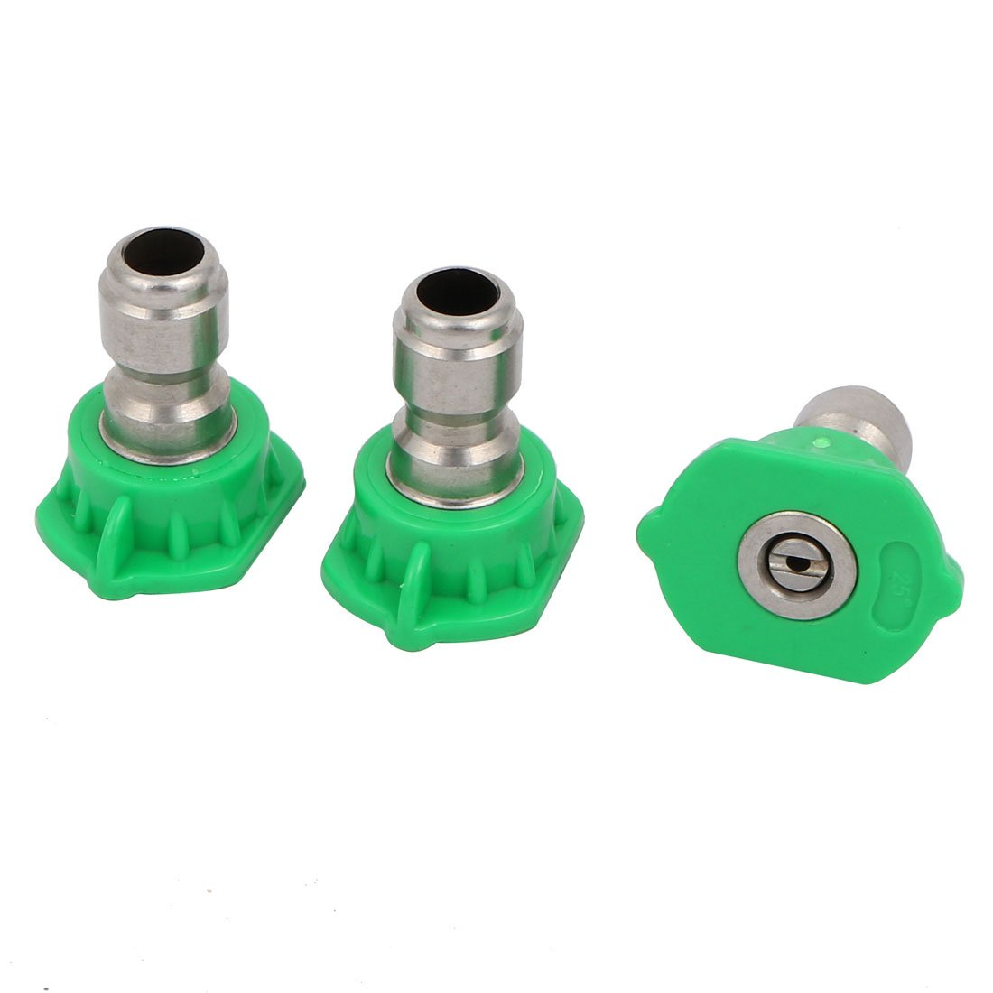sourcingmap 1.6mm Dia 25 Degree Spray Nozzle Universal Pressure Washer Accessories Green 3pcs