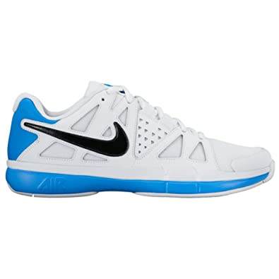 Nike Men s Air Vapor Advantage Tennis Shoes (10.5 D(M) US White/Light Photo Blue/Black)