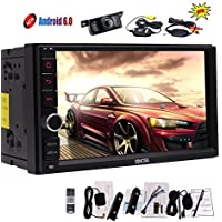 7 inch Android 6.0 Marshmallow Car Stereo System - Double 2 Din in Dash GPS Navigation Bluetooth Radio - Support Phone Mirror link, Dual Cam-in, OBD2, WIFI, External Mic - Wireless Rear Camera