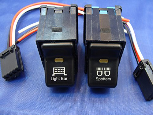 (Jeep TJ Rocker Switch Pair- Light Bar - Spotters Switches 1997-2006 )