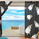 SEULIFE Window Sheer Curtain, Abstract Animal