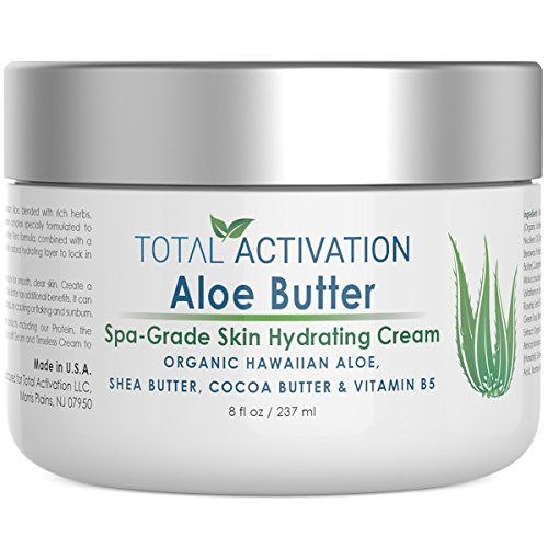 Velvety Soothing Skin Cream (Hawaiian Aloe Vera Butter for Skin Rejuvenation, Hydrating & Healing Face & Body Moisturizer Skin Cream, Organic & Natural Ingredients, Replace Organic Aloe Gels, Juices & Lotions, No Additives, 8 oz)