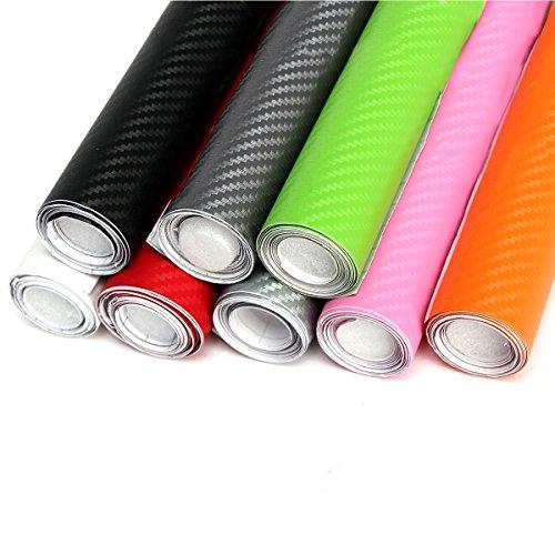 Exterior Accessories - 200x20cm Diy 3d Carbon Fiber Vinyl Wrap Roll Film Sticker Car Home Decal Sheet - Carbon Fiber Vinyl Wrap 3m Black White Roof 5d - 3d - 1PCs