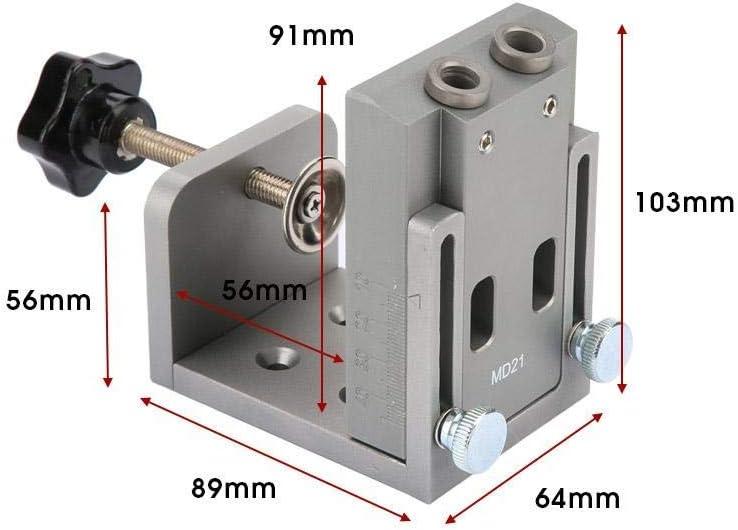 agujero de bolsillo Jig Kit for trabajar madera Paso Broca Conjunto Accesorios generales agujero