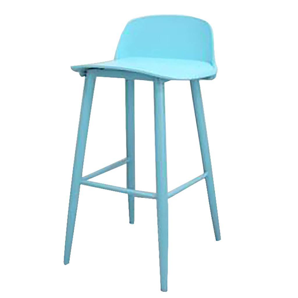 75cm-bluee Bar Stools Nerd Replica Design Retro Modern Muuto Scandinavian Bar Stools for Cafe Counter Kitchen Metal Legs Plastic Seat