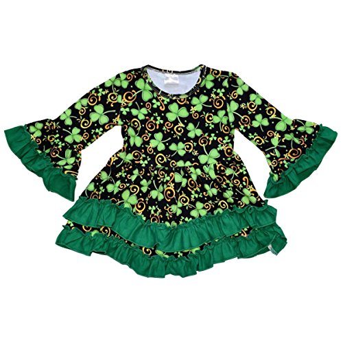 Unique Baby Girls St Patrick's Day Luck of the Irish Dress (7/XXL, Green)