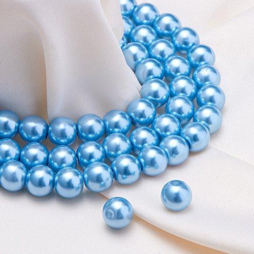 light blue beads - 5