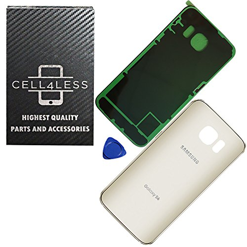 e574f8311cb CELL4LESS Replacement Back Glass Cover Back Battery Door w/Pre-Installed  Adhesive Samsung Galaxy